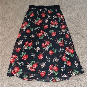 Lularoe Floral Lucy Skirt